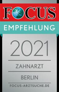 Focus Empfehlungssiegel 2021
