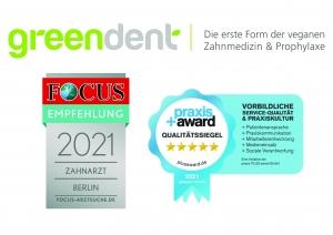 Greendent Focus Qualitätssiegel PraxisPlusAward